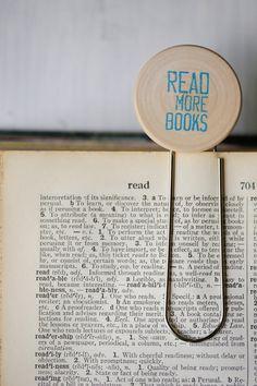 Read More Books Paperclip Bookmark