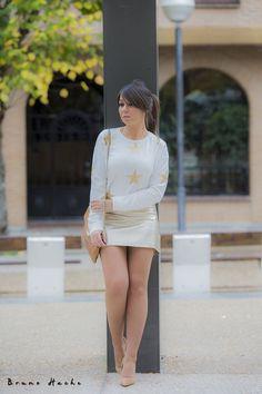 STARS - la huella de mis tacones Cute Dress Outfits, Short Outfits, Stylish Outfits, Cute Dresses, Fashion Outfits, Womens Fashion, Stylish Clothes, Mini Dresses, Pantyhose Outfits