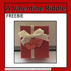 A Valentine Riddle Valentine Riddles, Valentines Day, Mystery, Students, Challenges, Store, Valentine's Day Diy, Valantine Day, Storage