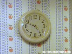 A Wall Clock Out Of A Button - And I was thinking about trying to find one to buy...so easy to make.
