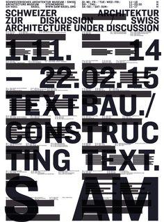Textbau. Schweizer Architektur zur Diskussion | S AM Schweizerisches Architekturmuseum
