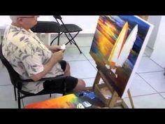 Afremov.com daily blog  - March 13th 2013 - Leonid Afremov painting a custom made order