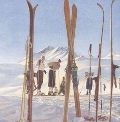 "Moritz,"" Photomontages, design by Walter Herdeg & Walter Amstutz Ski Vintage, Vintage Ski Posters, Vintage Winter, Vintage Travel, Weekend Events, Ski Season, Ski Chalet, Cross Country Skiing, Snow Skiing"