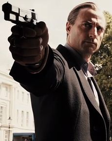 Mark Strong is a fabulous actor, especially as a villain. This photo is from RocknRolla