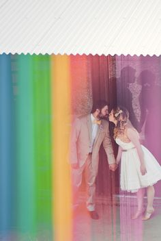 I love the rainbow effect in this wedding photo