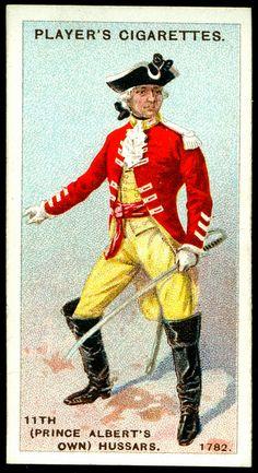 Cigarette Card - 11th Hussars, 1782