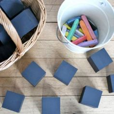 Chalkboard Blocks {Homemade Educational Toys}