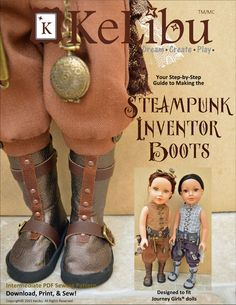 STEAMPUNK INVENTOR BOOTS FOR JOURNEY GIRLS DOLLS