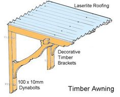 door wooden awning plans