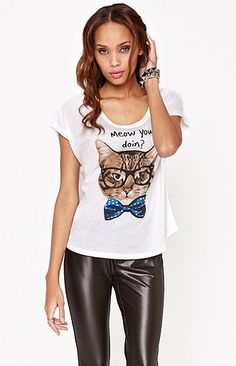 Riot Society Meow You Doing Tee at PacSun.com