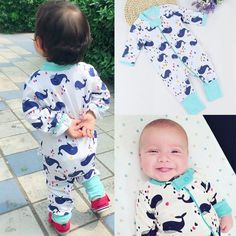 0 to 36 Months Cute Cartoon Whale Newborn Baby Boy Girl Long Sleeve Cotton Jumpsuit Bodysuit Sleepwear Clothes Outfits  #Baby #Newborn #BabyClothing #InfantClothes #BabyShoes #InfantDress #BabyShop #BabyStores #NewbornClothes #BabyGirlDress