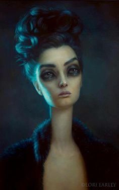 """Just beautiful! """"Anhedonia"""", oil on board, Lori Earley Beautiful Bizarre Magazine - Current & all back issues available from www.beautifulbizarre.net/shop"""
