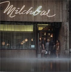 DDR - Milchbar in Leipzig 1968 - Klaus Morgenstern Artistic Photography, Macro Photography, Mass Culture, Retro Typography, Vintage Neon Signs, Berlin City, East Germany, Urban Architecture, Loft Design