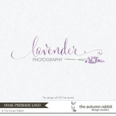 Premade Photography Logo and Watermark Design - One of a Kind - Hand drawn Lavender Logo - Business Branding on Etsy, $75.00