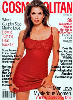Magazine photos featuring Cindy Crawford on the cover. Cindy Crawford magazine cover photos, back issues and newstand editions. Fashion Cover, 70s Fashion, Fashion Models, Fashion Magazines, Female Fashion, Fashion History, List Of Magazines, Vintage Magazines, 90s Models