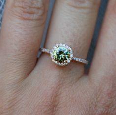 amazing sparkling green tea round sapphire