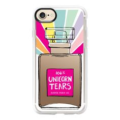 100% Unicorn Tears Perfume Bottle - iPhone 7 Case And Cover (715 MXN) ❤ liked on Polyvore featuring accessories, tech accessories, phone cases, iphone case, iphone cases, clear iphone case, apple iphone case, iphone cover case and unicorn iphone case