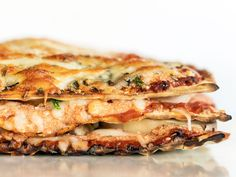 Matzo Vegetarian Lasagna : Who needs noodles when matzo is around? This lasagna has a satisfying crunchiness around the edges, even though most of the matzo is softened by the sauce, ricotta and veggies as it cooks. Just layer, stack and bake as usual, using matzo in place of no-boil noodles.