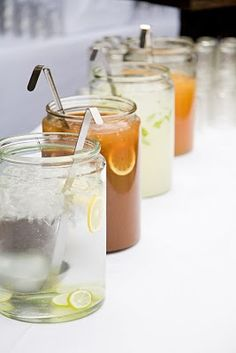 tea and lemonade stand at wedding-- sweet tea will be there. It's a must.
