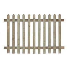 Country Cut Picket Pointed Top Panel - Picket Fencing - Fencing - Fountain Timber Products