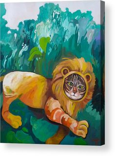 Cat Acrylic Print featuring the painting The Lion by Carmen Stanescu Kutzelnig Framed Prints, Canvas Prints, Art Prints, Great Artists, Lion, Greeting Cards, Tapestry, Oil Paintings, Artwork