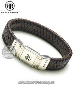 RR-L0001-S-19 Braided Flat Black/Earth Armband