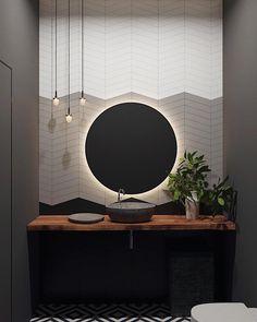 Russian Contemporary Apartment with Boca do Lobo by Ekaterina Lashmano – Home Decor Zen Bathroom, Modern Master Bathroom, Modern Bathroom Design, Bathroom Interior Design, Bathroom Styling, Bathroom Designs, Bathroom Ideas, Bathroom Mirrors, Bathroom Inspo