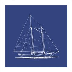 Racing schooner yacht atlantic 1905 blueprint plan boating and i pinned this sailboat blueprint framed wall art i from the big fish art event at malvernweather Gallery