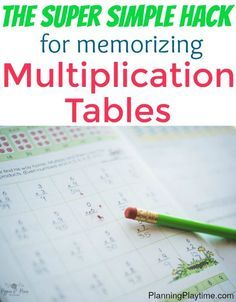 Skip counting multiplication tables with songs. Simple trick for memorizing mupliplication tables - The best math hack you might… Math Tutor, Teaching Math, Math Education, Math For Kids, Fun Math, Math 2, Calculus, Algebra, Math Resources