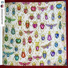 Insetos do Jardim Secreto pintados como jóias por mim @jessicasantin Secret Garden Tutorial https://www.youtube.com/watch?v=PNMdmgOPBxA