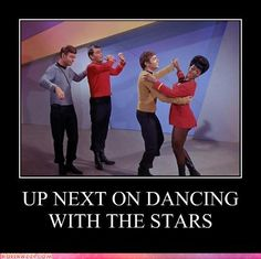 StarTrek: up next on Dancing with the Stars...