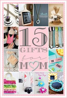 Gifts for Mother's Day... So many cute ideas! #diy #crafts #gifts