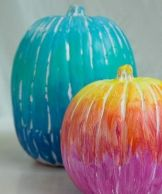 Painted Rainbow Pumpkin