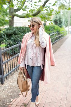 Pink on pink outfit - click through for more on this pastel fall look!