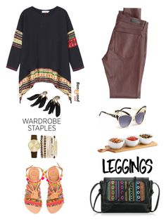 """""""Untitled #1063"""" by wannanna ❤ liked on Polyvore featuring AG Adriano Goldschmied, Elina Linardaki, Jessica Carlyle, Leggings and WardrobeStaples"""