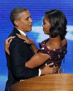 The First Couple...   A moment of love, admiration, respect, and pride. A great American couple.