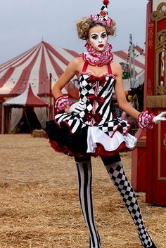 Adult Sexy Deluxe Harlequin Clown Costume | Cheap Clown Halloween Costume for Sexy
