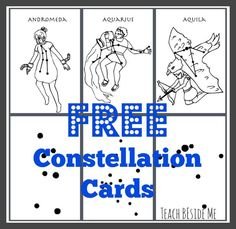 Free Printable Constellation Cards - Teach Beside Me
