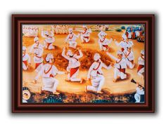 Dandiya~Oil painting created on canvas.