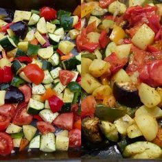Légumes du soleil rôtis au four !