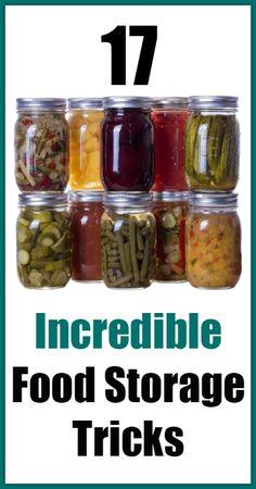 New food storage hacks ideas Ideas New Recipes, Whole Food Recipes, Long Term Food Storage, Storage Hacks, Storage Solutions, Smart Storage, Foods With Gluten, Preserving Food, Canning Recipes