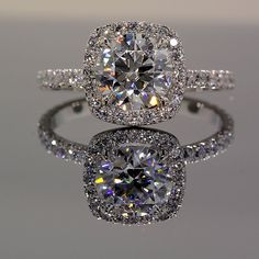 Park Avenue ring from HPDiamonds.com with Amora Gem Ultra center.