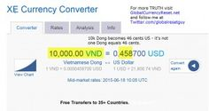 Vietnamese Dong Exchange Rate Showing 46 Cents - RV Truth - https://globalcurrencyreset.wordpress.com//?p=123