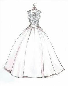 Trendy Wedding Gifts From Maid Of Honor To Bride Dress Sketches Ideas Illustration Mode, Fashion Illustration Sketches, Fashion Sketches, Drawing Sketches, Drawing Ideas, Drawing Style, Fashion Sketchbook, Sketch Ideas, Drawing Art