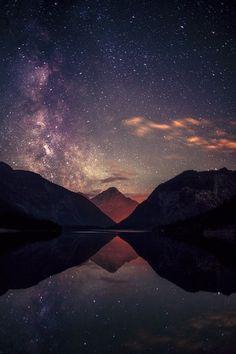 Milky Way over   Mt. Thaneller Austria |  Michael Boehmlaender