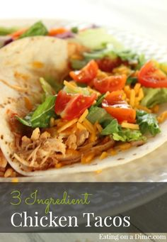 WOW! You will love this easy taco recipe. Just toss it all in the crockpot