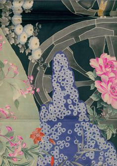detail of Uchikake, Taisho era (1912-1926). Yorke Antique Textiles