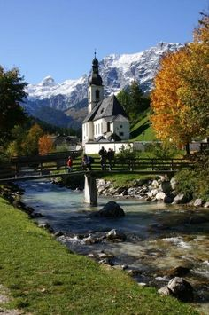 Berchtesgaden Alps, Germany. We drove by here on the day we went to Eagle's Nest and the Salt Mines. It was beautiful!