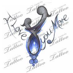 I LOVE MY MOM!!! Tattoo to represent Mother/daughter bond!! | I LOVE MY MOM #31079 | CreateMyTattoo.com