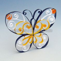 Schmetterling  Quilling Muster PDF Tutorial